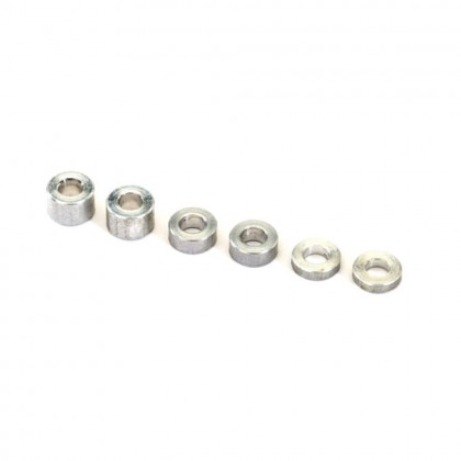 Traxxas Aluminium spacers 3x6x1.5mm (2pcs)/3x6x2.5mm (1pc)/3x6x3.8mm (2pcs) TRX2539