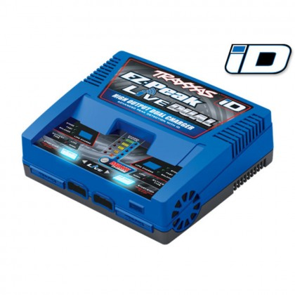 Traxxas Charger EZ-Peak Live Dual 200W NiMH/LiPo with iD Auto Battery Identification (for United Kingdom) TRX2973T