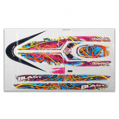 Traxxas Blast decal set (swirl pattern) (waterproof) TRX3816