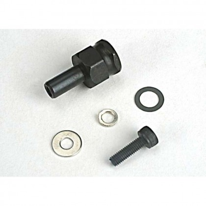 Traxxas Adapter nut clutch/3x10mm cap screwith washer/split washer (not for use with IPS Crankshafts) TRX4844