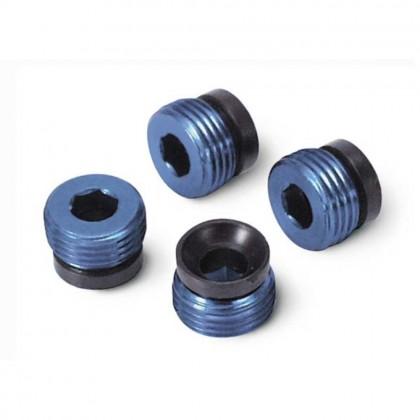 Traxxas Aluminium caps pivot ball (blue-anodized) (4pcs) TRX4934X