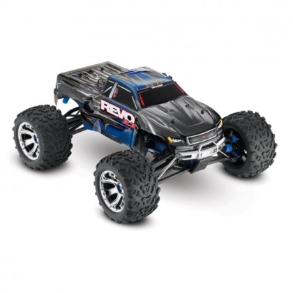 Traxxas Blue Revo 3.3 1/10 Scale 4WD Nitro-Powered Monster Truck (with Telemetry Sensors) with TQi 2.4GHz Radio System Traxxas Link Wireless Module and TSM TRX53097-3-BLUE