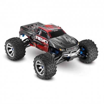 Traxxas Red Revo 3.3 1/10 Scale 4WD Nitro-Powered Monster Truck (with Telemetry Sensors) with TQi 2.4GHz Radio System Traxxas Link Wireless Module and TSM TRX53097-3-RED