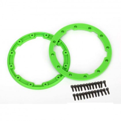 Traxxas Sidewall protector beadlock style (green) (2pcs)/2.5x8mm CS (24) (for use with Geode wheels) TRX5664