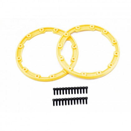 Traxxas Sidewall protector beadlock style (yellow) (2pcs)/2.5x8mm CS (24) (for use with Geode wheels) TRX5665