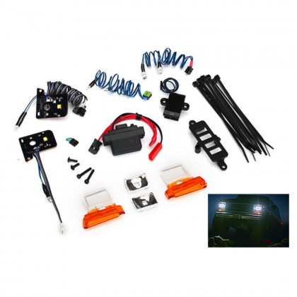 Traxxas LED light set complete with power supply (contains headlights tail lights side marker lights & distribution block) (fits #8010 body) TRX8035