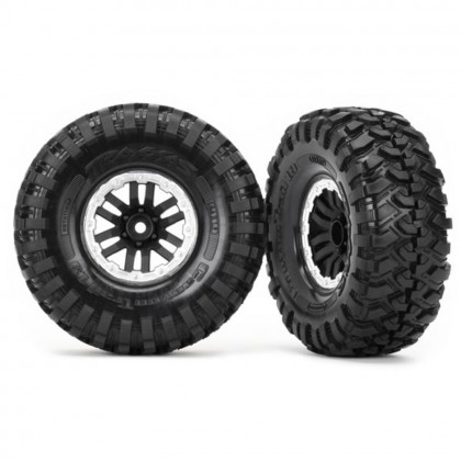 Traxxas Tires and wheels assembled glued (TRX-4 satin beadlock wheels Canyon Trail 1.9 tires) (2pcs) TRX8272X
