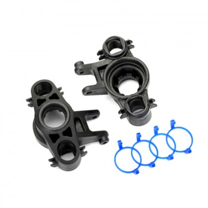 Traxxas Axle carriers left & right (1 each) (use with 8x16mm & 17x26mm ball bearings)/dust boot retainers (4pcs) TRX8635