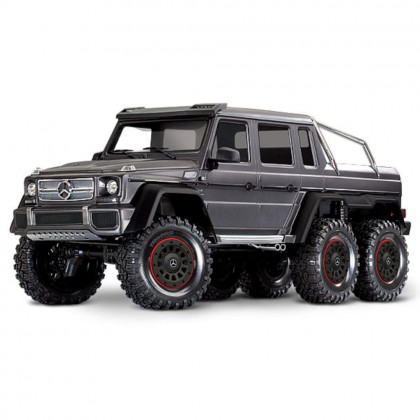 Traxxas Matte Graphite TRX-6 Scale and Trail Crawler with Mercedes-Benz G 63 AMG Body 1/10 Scale 6X6 Electric Trail Truck RTR with TQi Traxxas Link Enabled 2.4GHz Radio System XL-5 HV ESC and Titan 550 motor TRX88096-4-SLVR