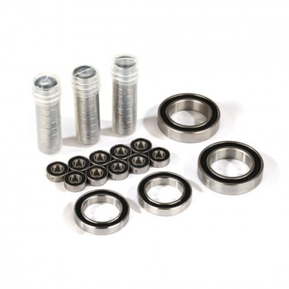Traxxas Ball bearing set TRX-4 Traxx black rubber sealed stainless (contains 5x11x4 (40) 20x32x7 (2pcs) & 17x26x5 (2pcs) bearings/5x11x.5mm PTFE-coated washers (40)) (for 1 pair of front or rear tracks) TRX8892