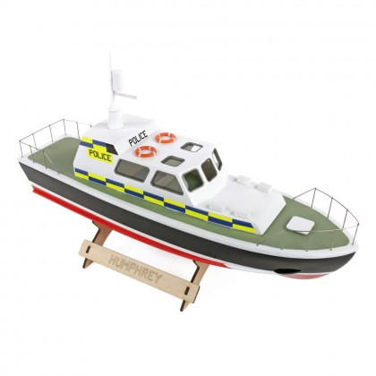 The Wooden Model Boat Company Police Launch Kit 400mm WBC1002
