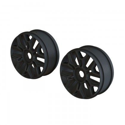 Arrma 1/8 Buggy Wheel Black (2) AR510120