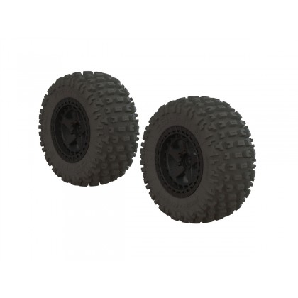 Arrma Fortress SC Tire Set Glued Black (2) AR550042