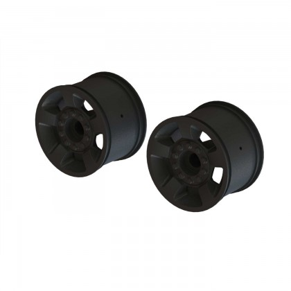 "Arrma 2.8"" Wheel 14mm Hex (Black/2) ARA510116"