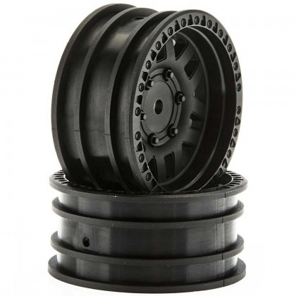 Axial 1.9 Wheels KMC XD Machete Crawl Black (2) AX31587