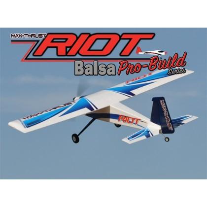 Max Thrust Pro-Build Balsa Riot ARTF Kit Blue - IC or Electric 1-MT-BALSA-RIOT-B
