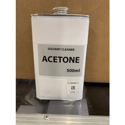 Acetone 500ml Ideal for cleaning Fuel Tanks