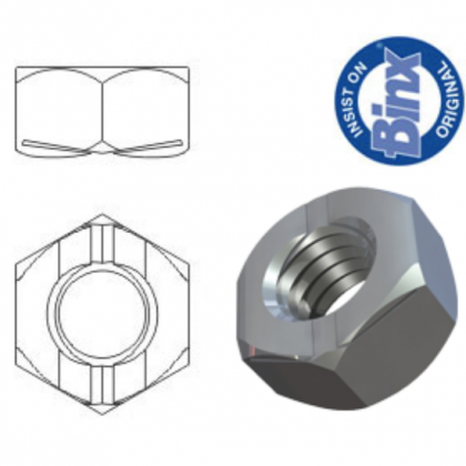 M6 Binx Aerotight Vibration Resistant All Metal Self Locking Nuts