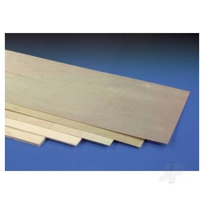 J Perkins Gaboon Plywood 3.00mm (1/8in) 1200x300mm Ply 5521125