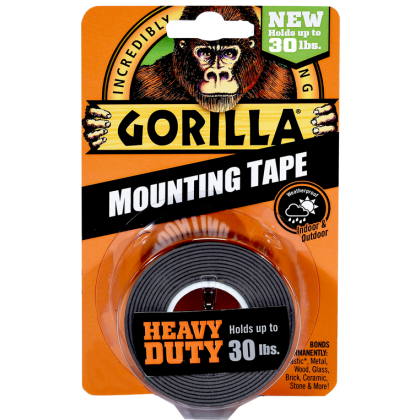 Gorilla Mounting Tape 1.5m Black