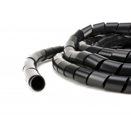 6mm Black Spiral Wrap ideal for Wiring, Air or Fuel