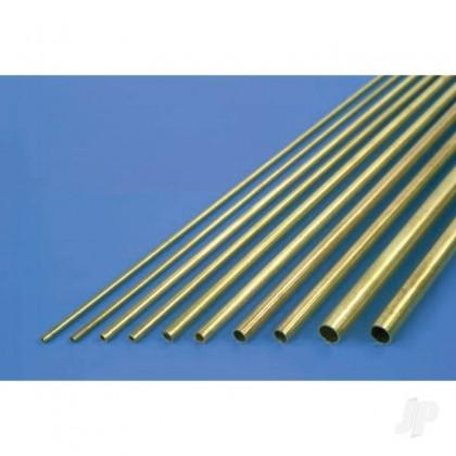 K&S 6mm x 1m Round Brass Tube, .45mm Wall (Single Piece) 3924