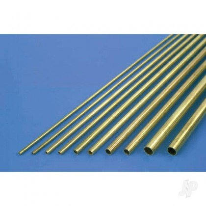 K&S 5mm x 1m Round Brass Tube, .45mm Wall (Single Piece) 3923