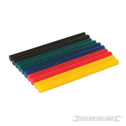 Coloured Mini Glue Sticks 10 pack 476310 from Silverline