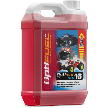 Optifuel Optimix RTR 16% Nitro Car Fuel 5 Litre OP1003K