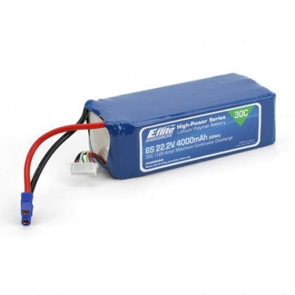 E-Flite 4000mah 6S 22.2volt 30C LiPo 12Gauge with EC3 Connector