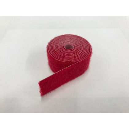 Velcro Strap Endless loop 20mm x 1m (Red)