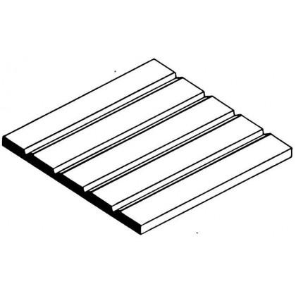 "Evergreen V-Groove Siding Sheet .125"" Spacing (1 Pack) 4125"