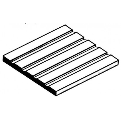 "Evergreen Board & Batten Sheet .125"" Spacing (1 Pack) 4544"