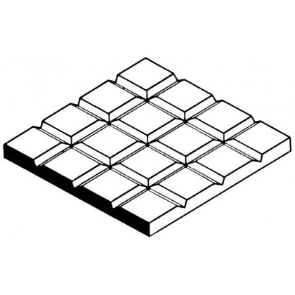 "Evergreen Square Tile Sheet 1/12x1/12"" Spacing (1 Pack) 4502"