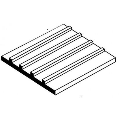 """Evergreen Metal Roofing Styrene Sheet 1/4"""" Spacing (1 Pack) 4522"""