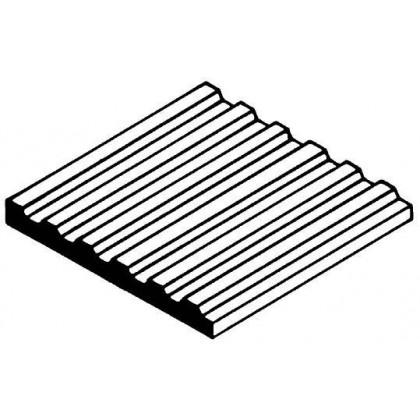 "Evergreen Corrugated Metal Siding Sheet .040"" Spacing (1 Pack) 4526"