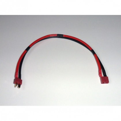 Deans Extension Lead 0.25m Long 12AWG Silicone Wire from Electriflyer