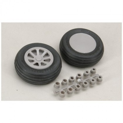 "Robart Scale Wheel Straight Tread 3.5"" Pair RB116"
