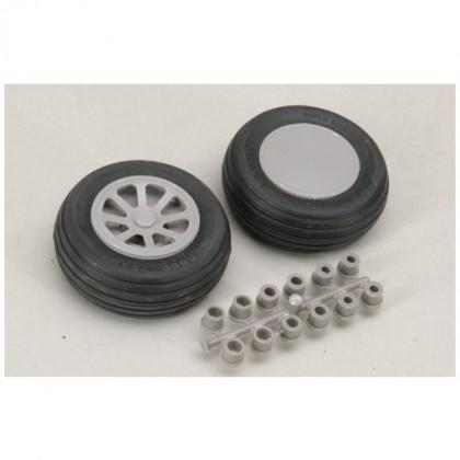 "Robart Scale Wheel Straight Tread 3.75"" Pair RB117"