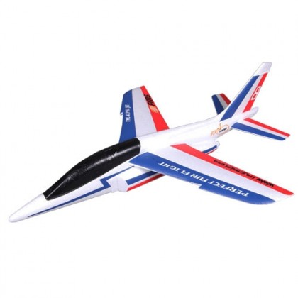 FMS 600MM Free Flight Alpha Glider Kit (Blue/Red) FS0174R