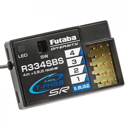 Futaba R334SBS 4-Channel T-FHSS SR Receiver - HV, 2.4GHz (P-R334SBS)