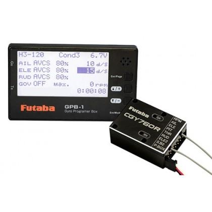 Futaba CGY760R Gyro Receiver FASSTest/T-FHSS Air & Governor with GPB-1 Programmer GY760R-GBP1