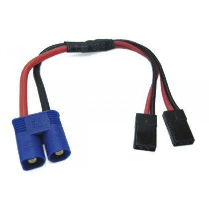 Etronix EC3 Connector To Dual JR Y Wire ET0815