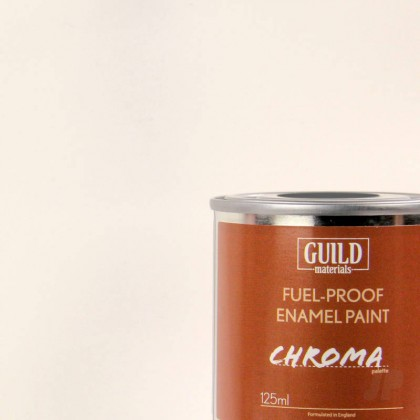 Guild Materials Gloss Enamel Fuel-Proof Paint Chroma White (125ml Tin)