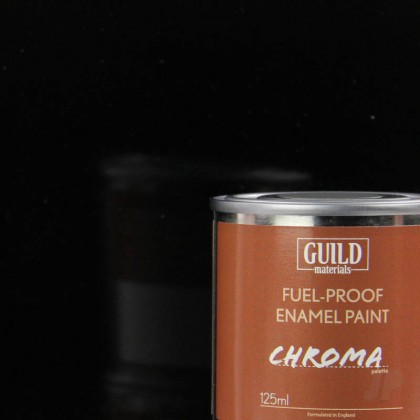 Guild Materials Gloss Enamel Fuel-Proof Paint Chroma Black (125ml Tin)