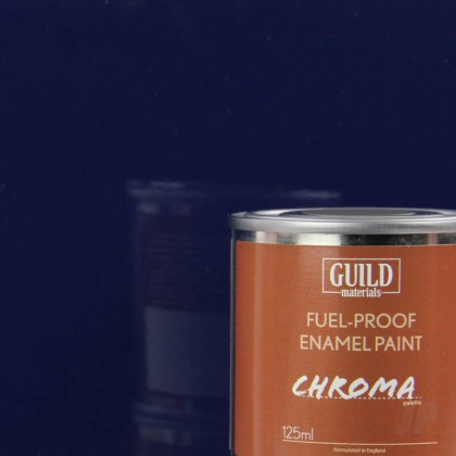 Guild Materials Gloss Enamel Fuel-Proof Paint Chroma Dark Blue (125ml Tin)