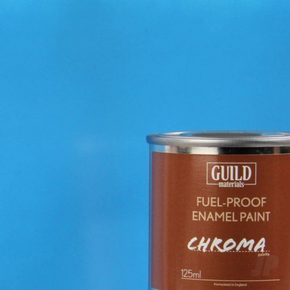 Guild Materials Gloss Enamel Fuel-Proof Paint Chroma Light Blue (125ml Tin)