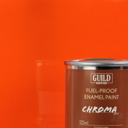 Guild Materials Gloss Enamel Fuel-Proof Paint Chroma Orange (125ml Tin)