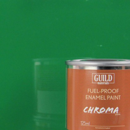 Guild Materials Gloss Enamel Fuel-Proof Paint Chroma Green (125ml Tin)