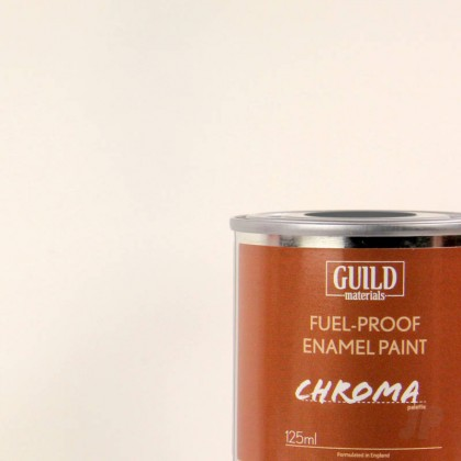Guild Materials Matt Enamel Fuel-Proof Paint Chroma White (125ml Tin)